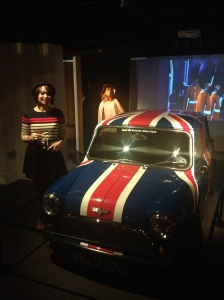 Me blending in slightly with the wonderful Union Jack Mini on display